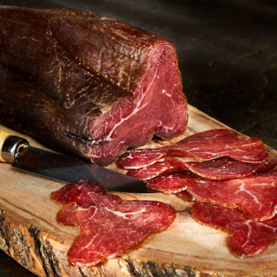 Sliced Cecina - 100% Natural Cured Smoked Beef, León-Style