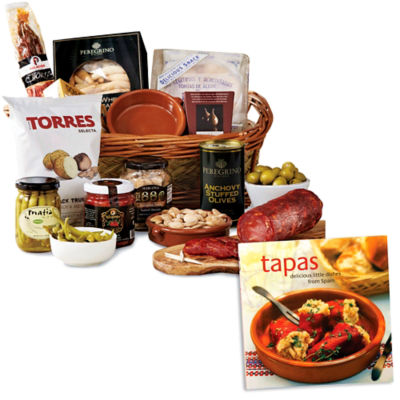 Tapas Party Basket plus 'Tapas: Delicious Little Dishes' Book
