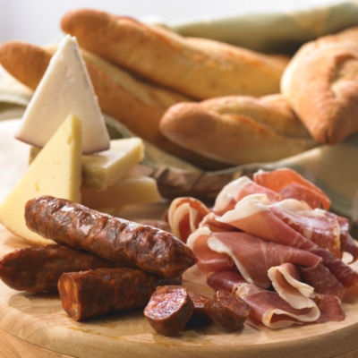 Bread, Cheese and Cured Meats Sampler