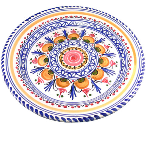 hand painted dinner plate - 11 inch