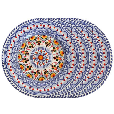 Set of 4 Salad / Lunch Plates - Each 9.5 Inch  sc 1 st  La Tienda & Set of 4 Spanish Hand-Painted Plates - Each 9.5 Inches wide ...