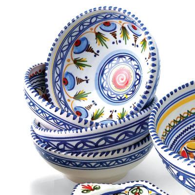 Set of 4 Hand-painted Bowls - 6 Inch Diameter  sc 1 st  La Tienda & Authentic Spanish Tableware