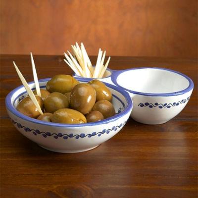 Blue & White Olive Serving Dish