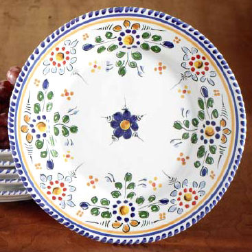 Salad / Lunch Plate - 9.5 Inches - 'Flor' Design