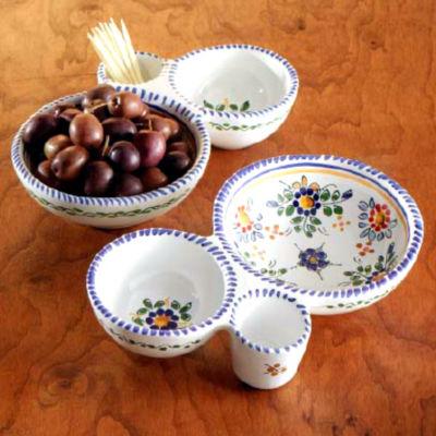 Olive Serving Dish & Flor Olive Serving Dish from Spain
