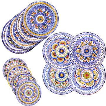 12-Piece Set of Ceramic Plates