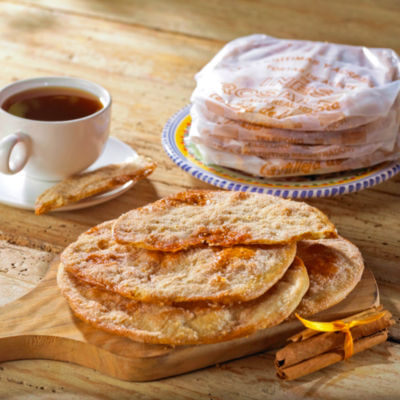 2 Packages of Cinnamon & Sugar Tortas de Aceite Crisps by Ines Rosales