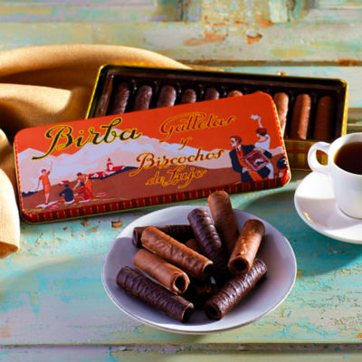Cubanos Chocolate Covered Cookies in Vintage Gift Tin by Birba