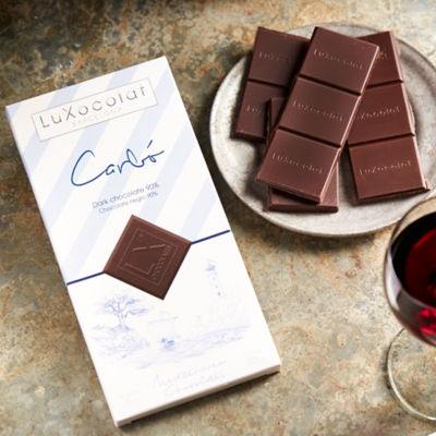 Carbó 90% Dark Chocolate Bar by Luxocolat