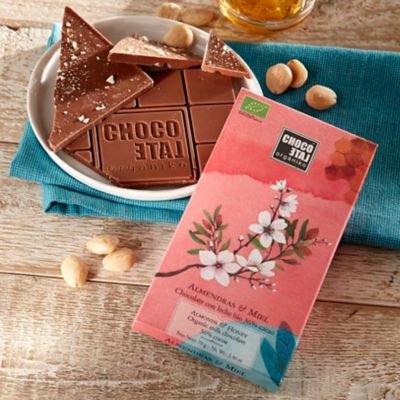 Milk Chocolate Bar with Almonds and Honey