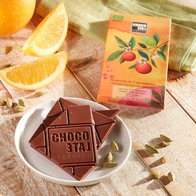 Milk Chocolate Bar with Orange and Cardamom