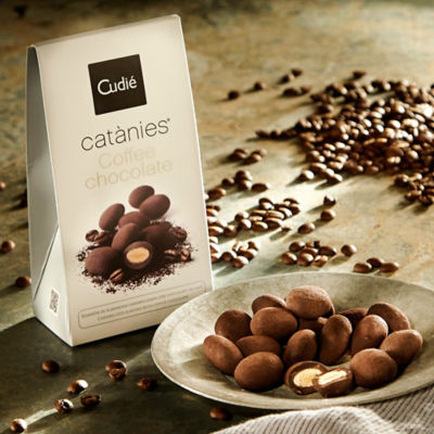 Dark Chocolate Coffee Covered Almonds by Cudié