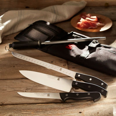 Professional Jamón Knife Set with Canvas Case