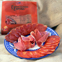 Tapas Sampler of Spanish Meats from Spain