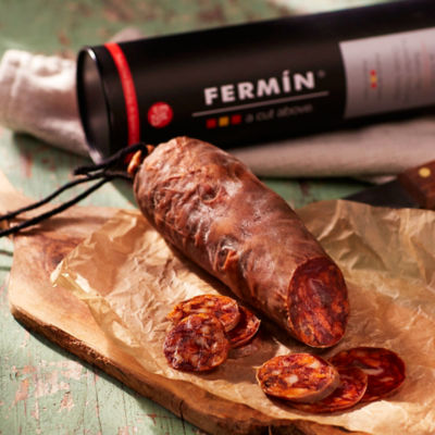 Chorizo Ibérico de Bellota Sausage by Fermín in Gift Package