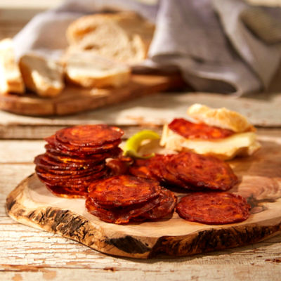Sliced Hot Palacios Chorizo from Spain