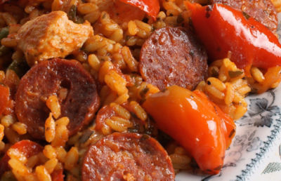 Paella with Chicken and Chorizo Recipe