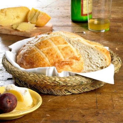 Round Bread Basket - Handwoven Esparto Grass