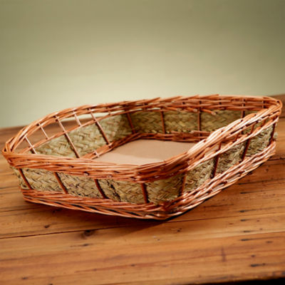 12 Large Handmade Baskets with Woven Esparto Grass
