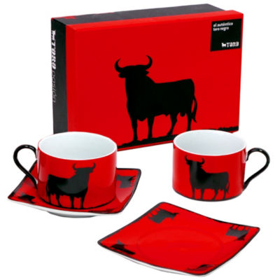 Osborne Toro Gift Box with 2 Cups and Saucers