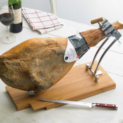 Swivel Grip Jamón Holder with Knife