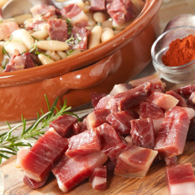2 Packages of Jamón Ibérico Pieces for Cooking by Peregrino