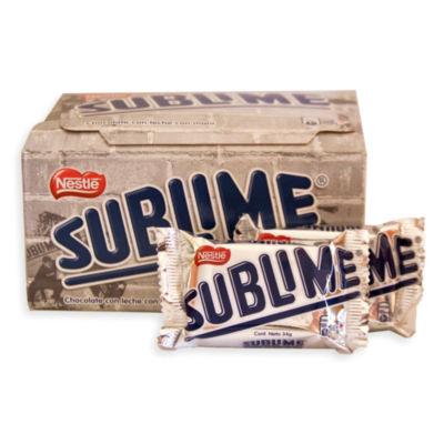 Sublime Clasico Chocolate and Peanut Bars