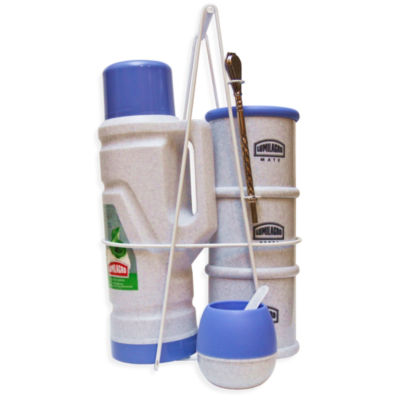 Portable Yerba Mate Serving Set - Blue