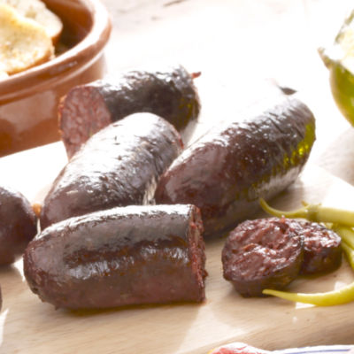 Colombian Style Morcilla Black Sausage with Rice
