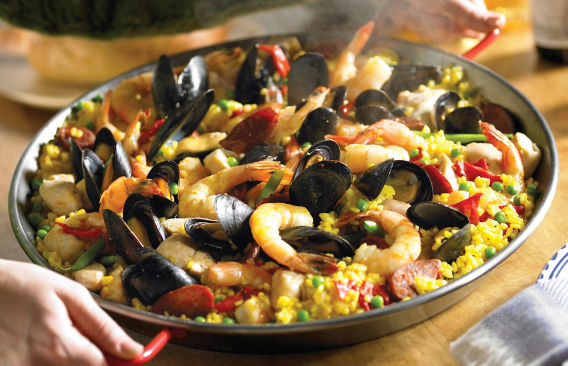 Authentic spanish food recipes for dishes dinners cooking mixed paella recipe forumfinder Choice Image