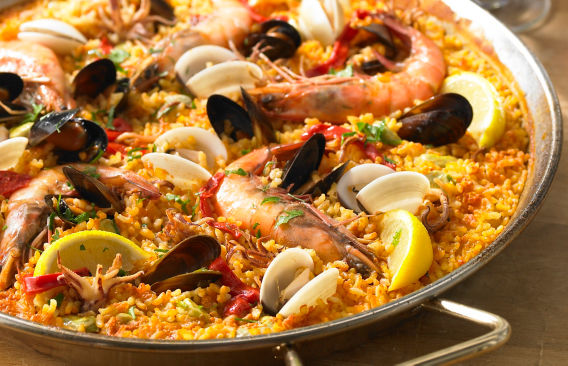 Authentic spanish food recipes for dishes dinners cooking seafood paella recipe forumfinder Gallery
