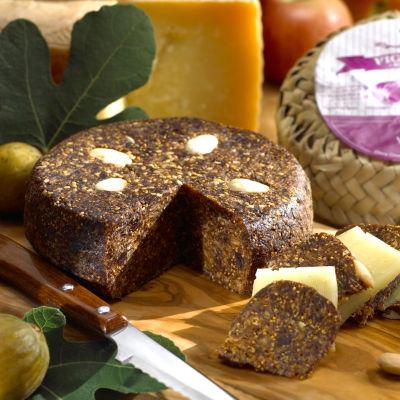 Artisan Fig Cake (Pan de Higo) Packed in Woven Grass Sack