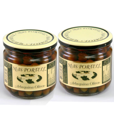 Arbequina Olives with Pits (2 Jars)