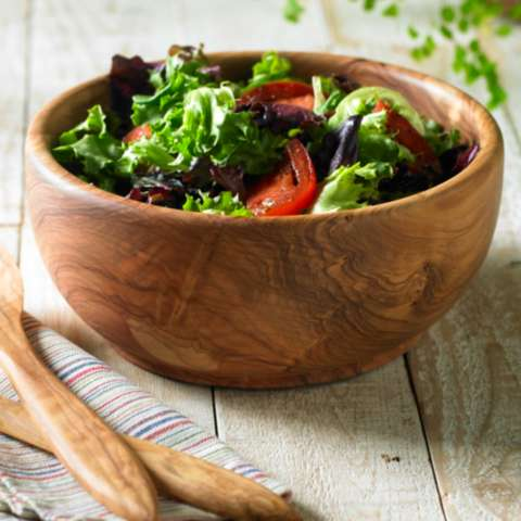 Olive Wood Salad Bowl