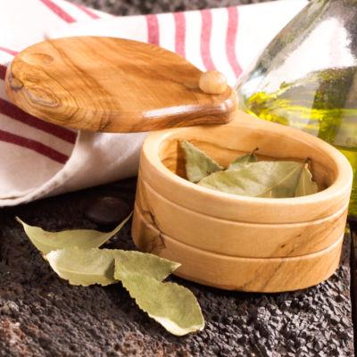 Olive Wood Salt and Spice Keeper