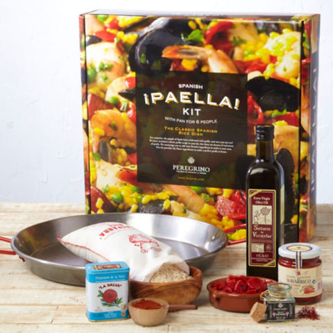 traditional paella kit with pan - packed in gift box