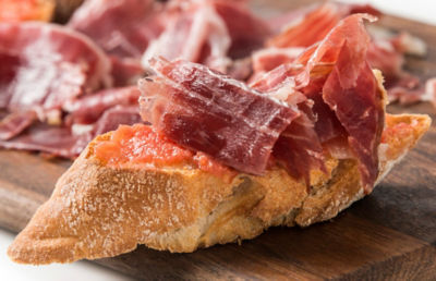 Bread with Tomato and Ham Recipe