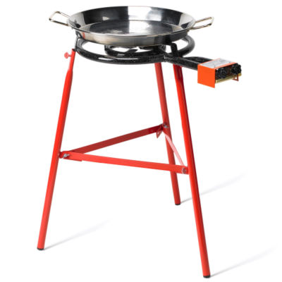 Medium Paella Burner with Two Rings - For Pans Up to 22 Inches