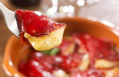 Piquillo Peppers Stuffed with Tetilla Cheese