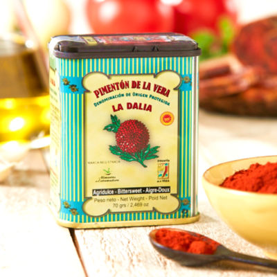 2 Tins of Bittersweet (Semi-spicy) Smoked Paprika by La Dalia