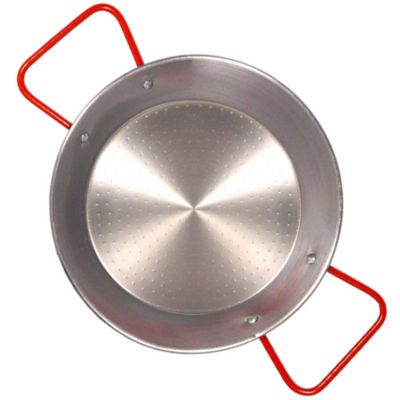 7.75 Inch Traditional Steel Paella Pan - Serves 1