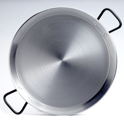 22 Inch 'Pata Negra' Double-Gauge Steel Paella Pan - Serves 12