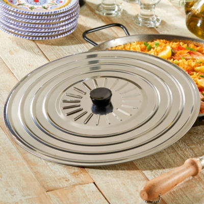 Stainless Steel Paella Pan Lid for 13 Inch Pans