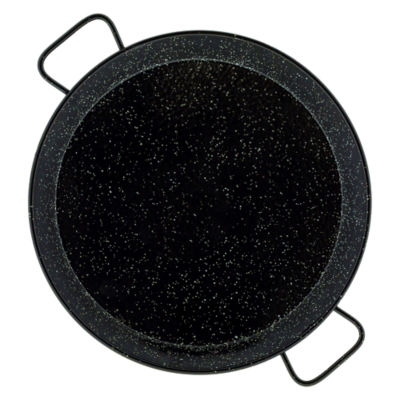 17 Inch Enameled Steel Paella Pan - Serves 8