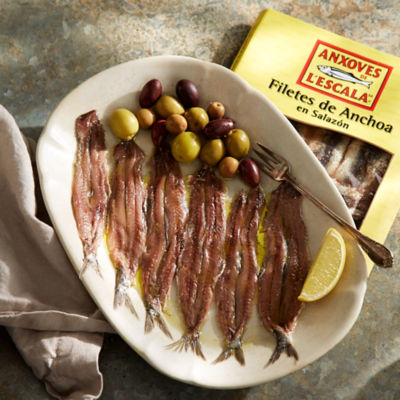 Artisan Anchovy Fillets in Sea Salt from L'Escala