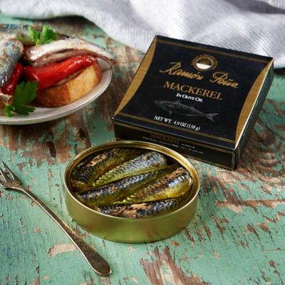 Mackerel Fillets in Olive Oil by Ramón Peña