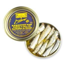 Sardinillas de Rianxo 'Los Peperetes' - Baby Sardines in Olive Oil