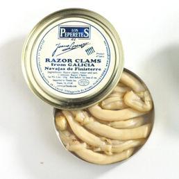 Navajas de Finesterre 'Los Peperetes' - Razor Clams in Olive Oil