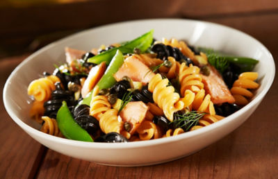 Smoked Salmon & Squid Ink Pasta with Capers & Preserved Lemon Recipe