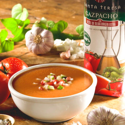 Gazpacho with Extra Virgin Olive Oil by Santa Teresa (1 Liter)